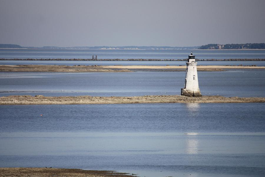 Cockspur Island Lighthouse With Jetty Photograph