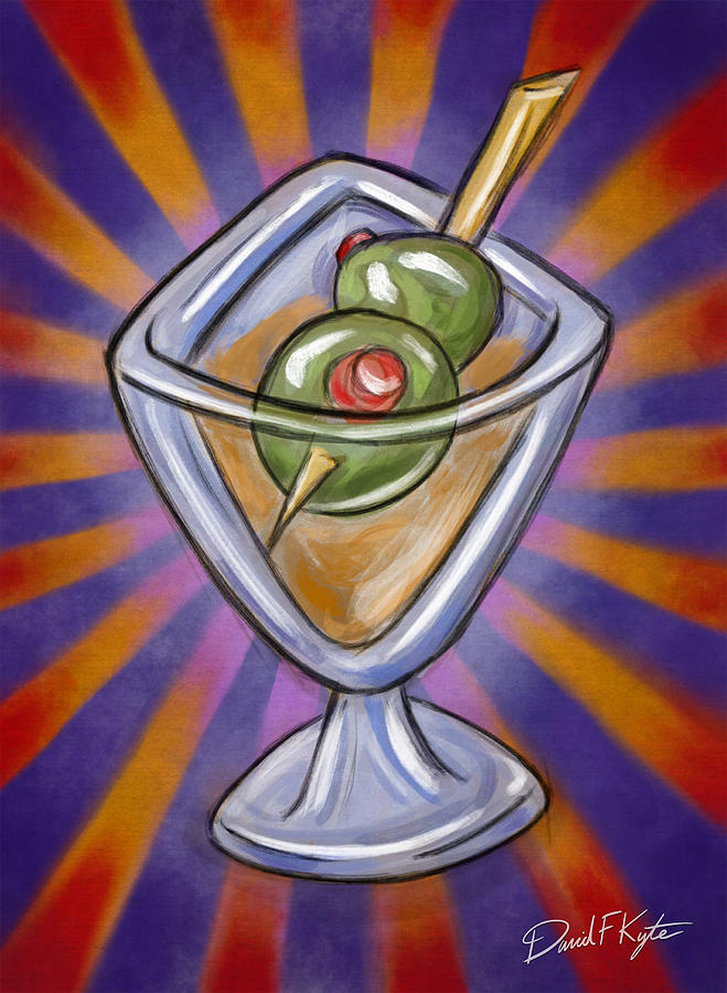 Cocktail With Olives  Digital Art