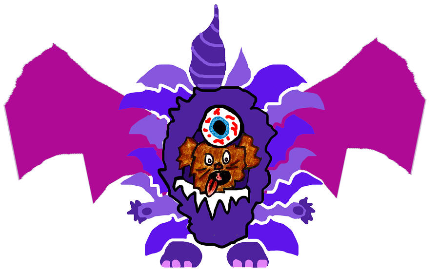 Coco Purple People Eater Costume Digital Art