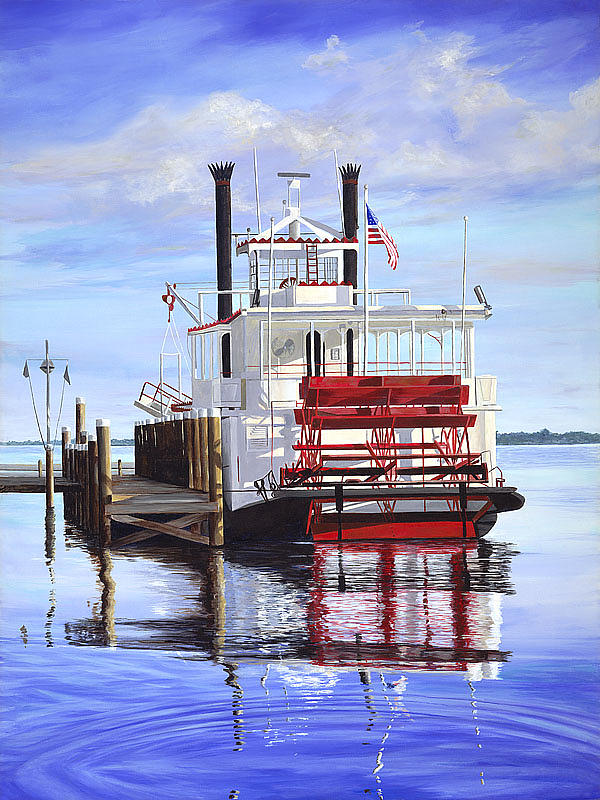 Cocoa Belle At Dock Painting