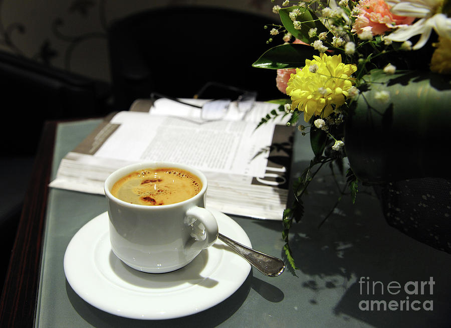 Coffee Break Photograph  - Coffee Break Fine Art Print