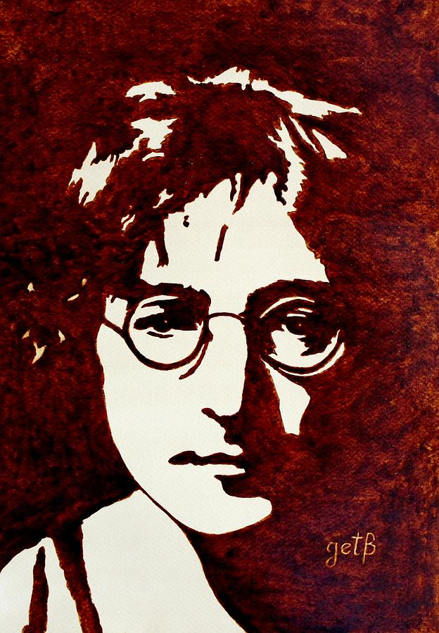 Coffee Painting John Lennon Painting  - Coffee Painting John Lennon Fine Art Print