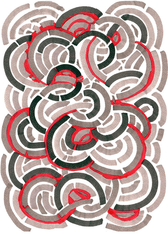 Coils Drawing  - Coils Fine Art Print