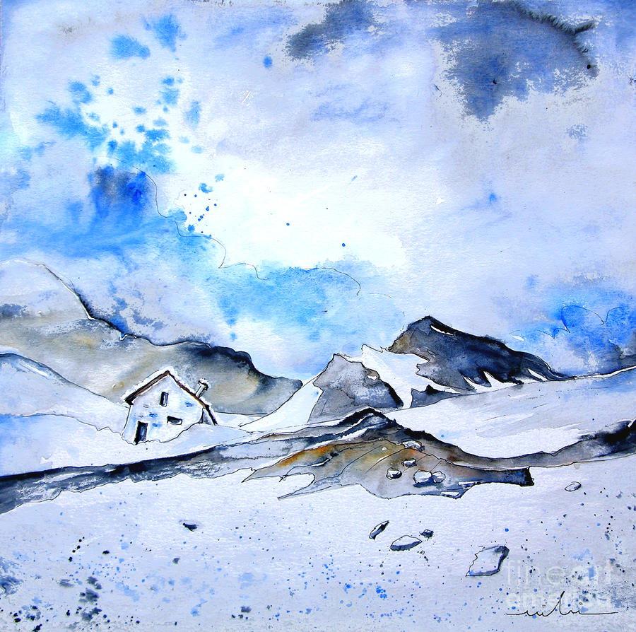 Col Du Pourtalet In The Pyrenees 01 Painting  - Col Du Pourtalet In The Pyrenees 01 Fine Art Print