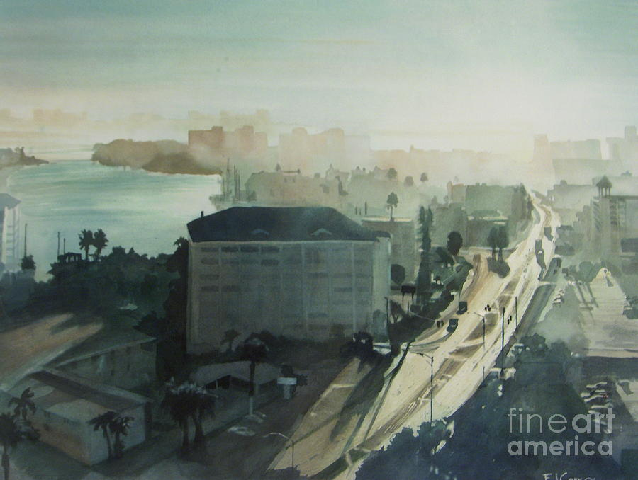Cold Dawn On Gulf Boulevard Painting  - Cold Dawn On Gulf Boulevard Fine Art Print