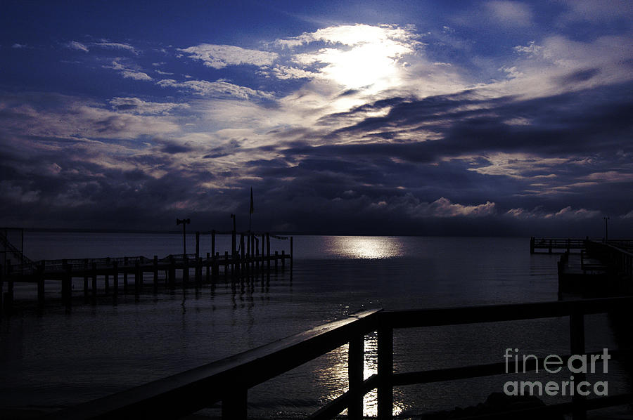 Cold Night On The Water Photograph  - Cold Night On The Water Fine Art Print