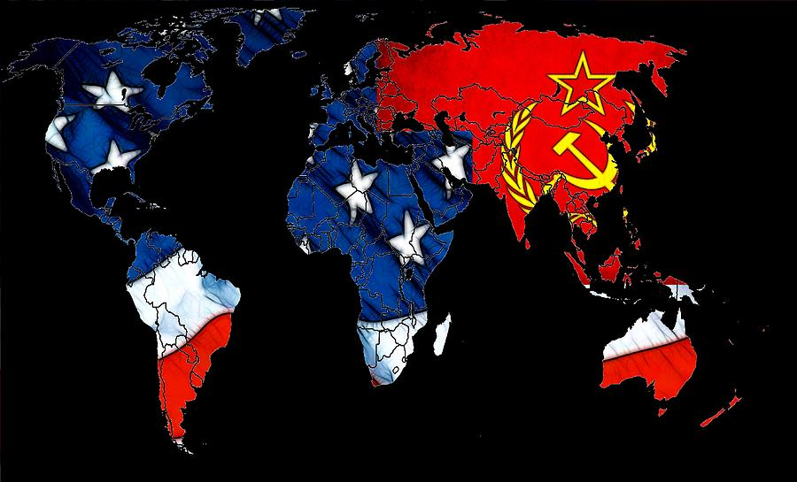 Cold War Map Digital Art  - Cold War Map Fine Art Print