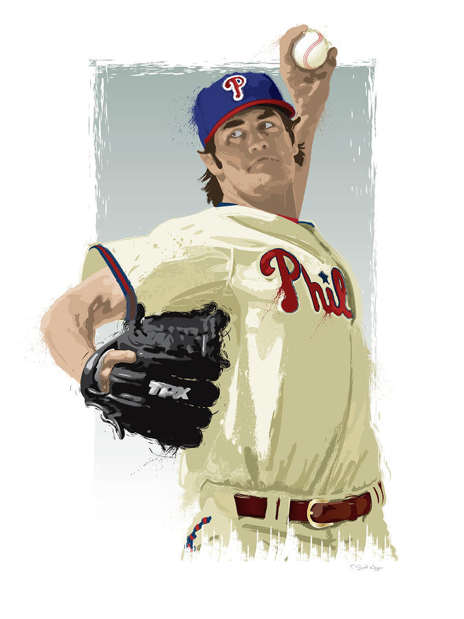 Cole Hamels Digital Art  - Cole Hamels Fine Art Print