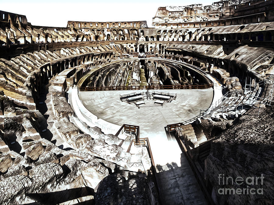 Coliseum  - Bleached Version Photograph  - Coliseum  - Bleached Version Fine Art Print