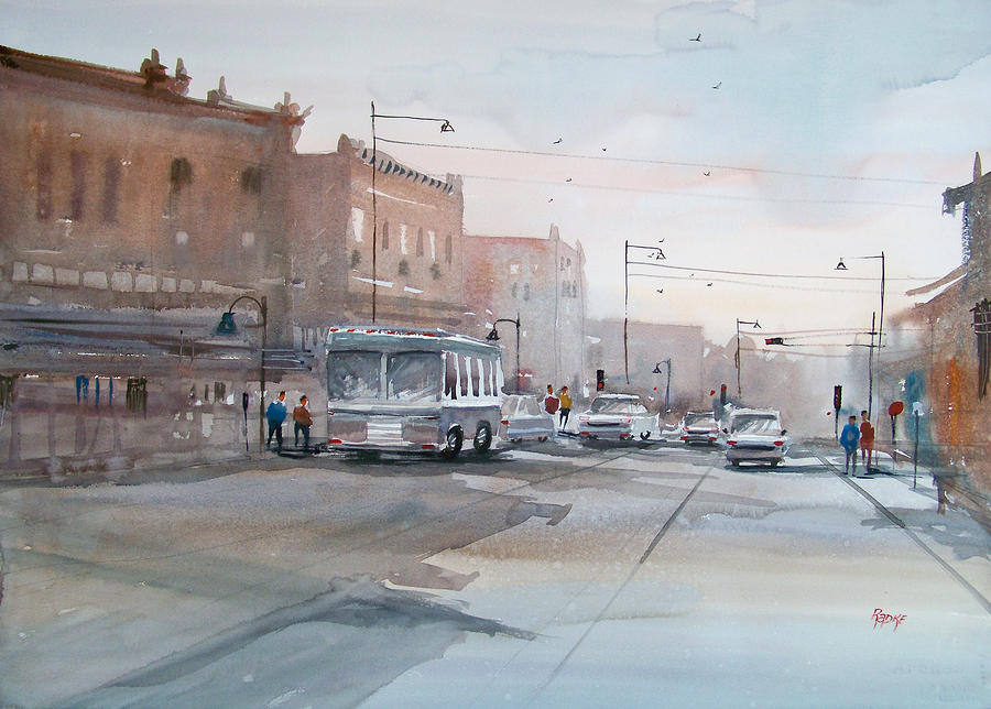 College Avenue - Appleton Painting  - College Avenue - Appleton Fine Art Print