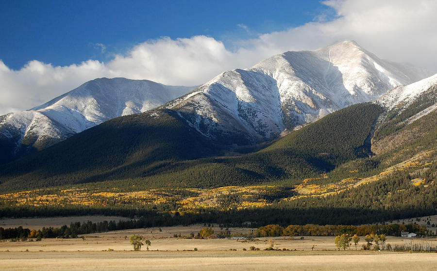 Collegiate Peaks From Buena Vista Colorado Photograph  - Collegiate Peaks From Buena Vista Colorado Fine Art Print