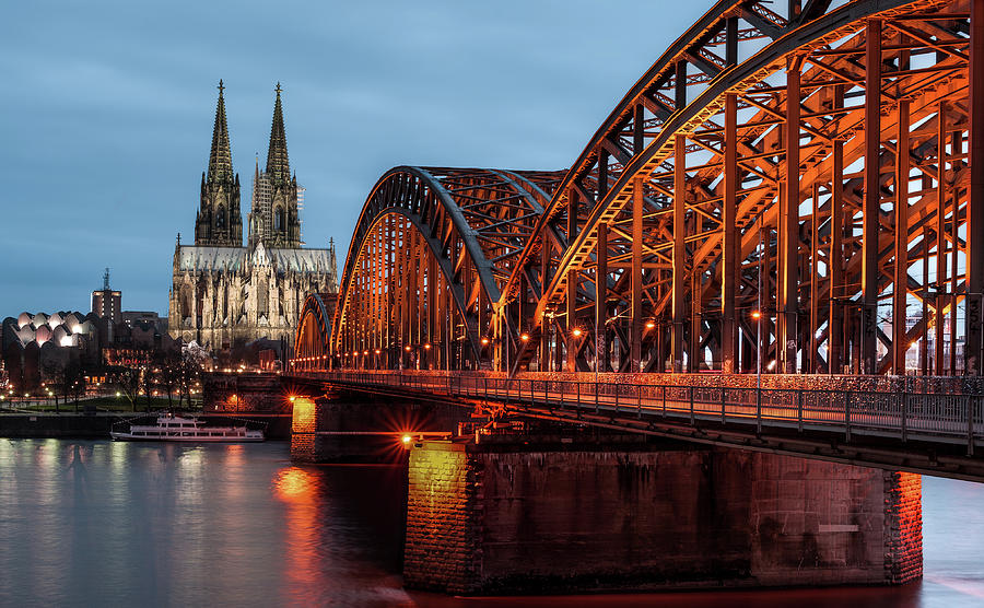 Cologne Cathedral At Dusk Photograph  - Cologne Cathedral At Dusk Fine Art Print