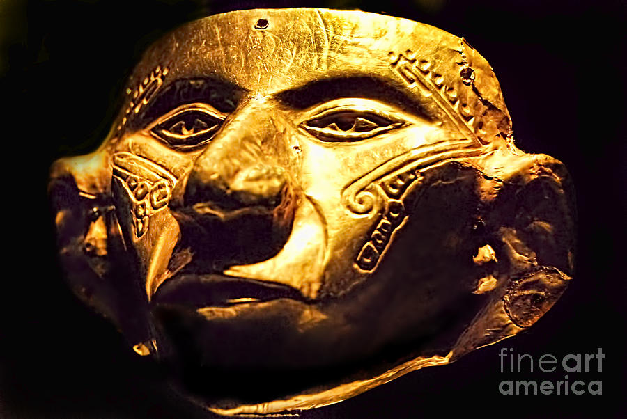 Colombian Gold Mask  Photograph