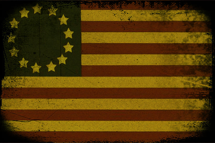 Colonial Flag Photograph