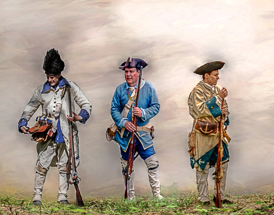 Colonial French Soldier Review Digital Art