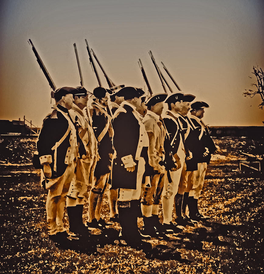 Colonial Soldiers On Parade Photograph