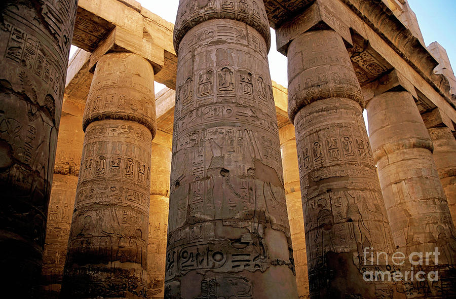 Colonnade In The Karnak Temple Complex At Luxor Photograph
