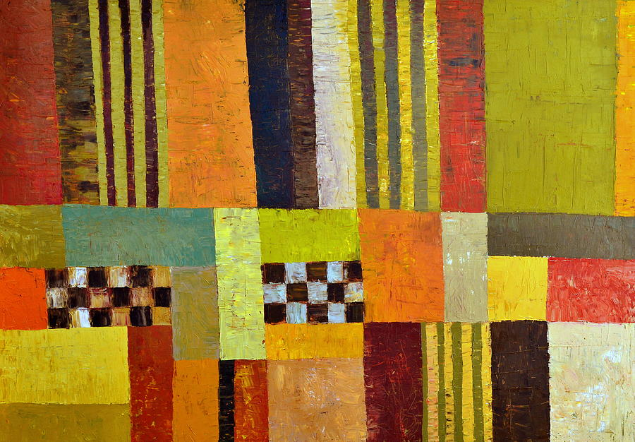 Color And Pattern Abstract Painting  - Color And Pattern Abstract Fine Art Print