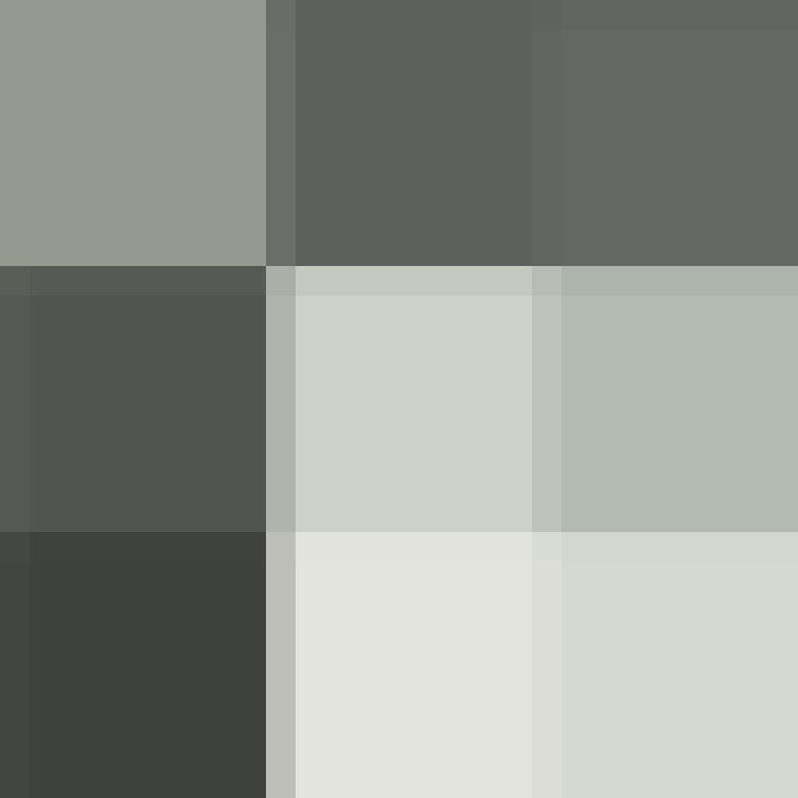 Color Block Gray Tones By Madart Painting  - Color Block Gray Tones By Madart Fine Art Print
