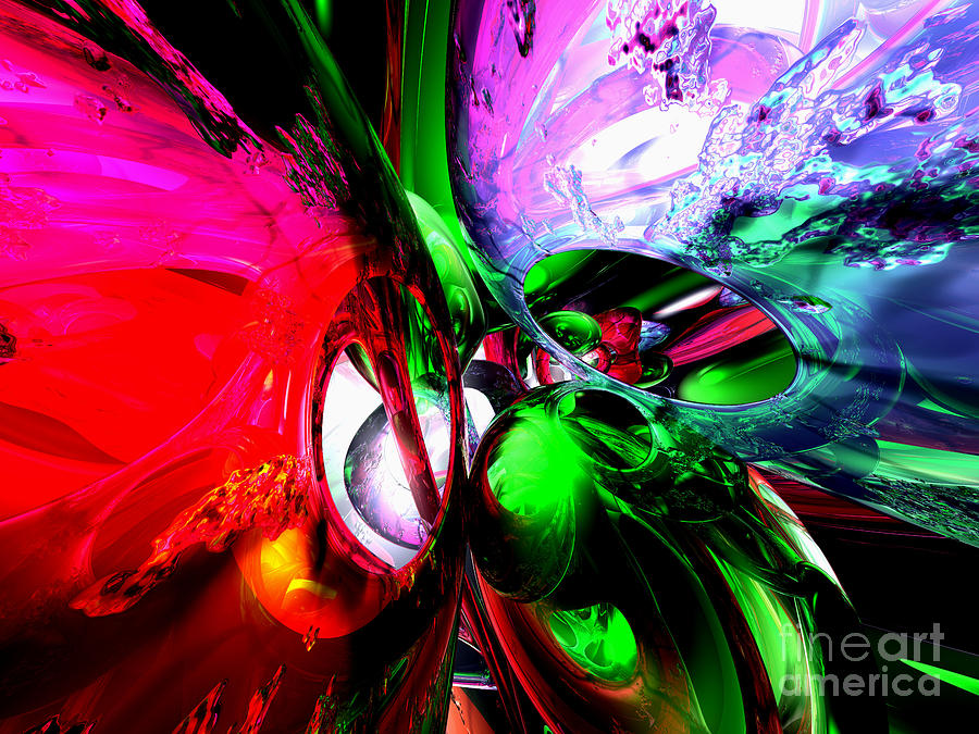 Color Carnival Abstract Digital Art  - Color Carnival Abstract Fine Art Print