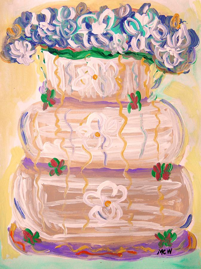 Color In A Wedding Cake Painting  - Color In A Wedding Cake Fine Art Print