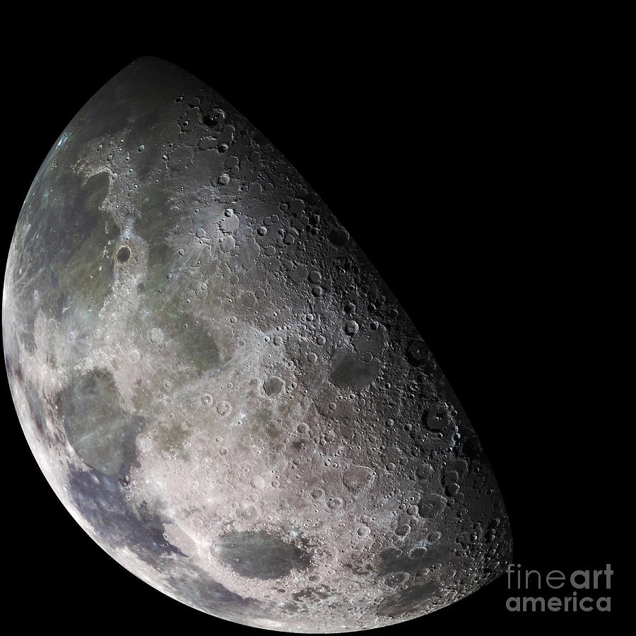 Color Mosaic Of The Earths Moon Photograph  - Color Mosaic Of The Earths Moon Fine Art Print