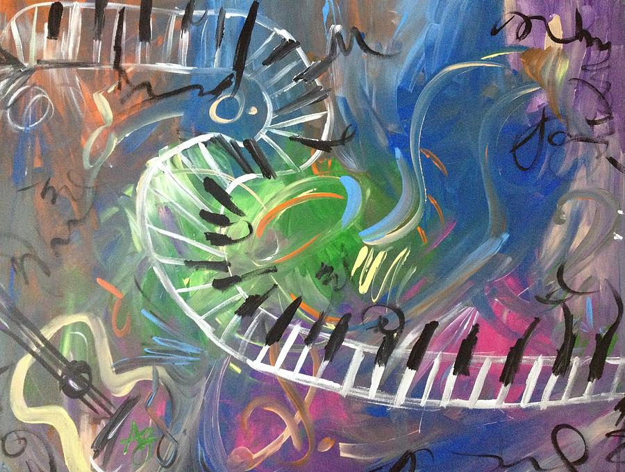 Color Of Music Painting  - Color Of Music Fine Art Print