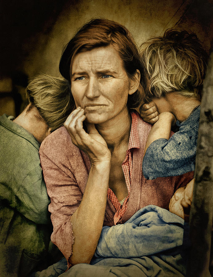 Migrant Agricultural Laborers Photograph - Color Of Sorrow ... by Bob Kramer