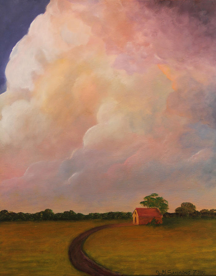 Clouds Painting - Color Storm by Janet Greer Sammons