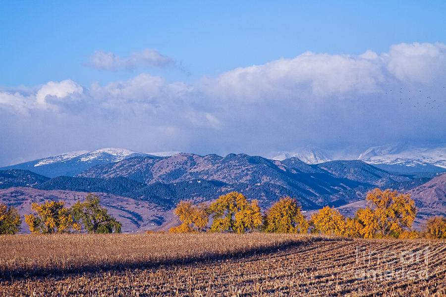 Colorado Autumn Morning Scenic View Photograph