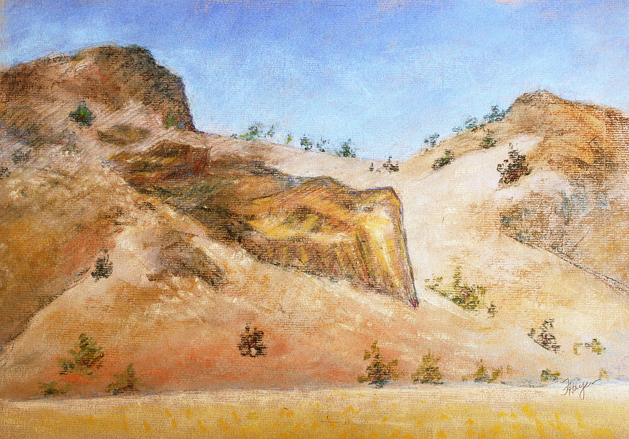 Colorado Butte One Painting  - Colorado Butte One Fine Art Print