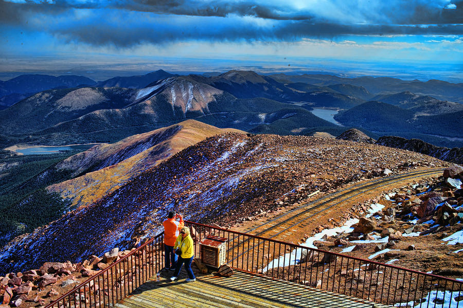 Colorado From Pikes Peak by Lawrence Christopher: fineartamerica.com/featured/colorado-from-pikes-peak-lawrence...