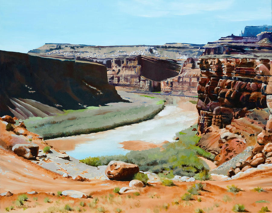 Colorado River Bend Painting