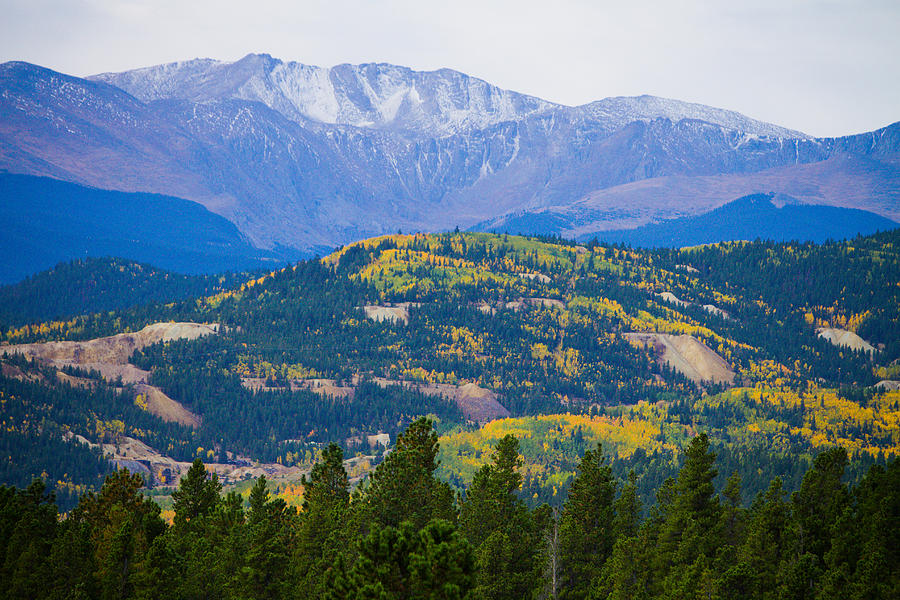 Colorado Rocky Mountain Autumn View Photograph  - Colorado Rocky Mountain Autumn View Fine Art Print