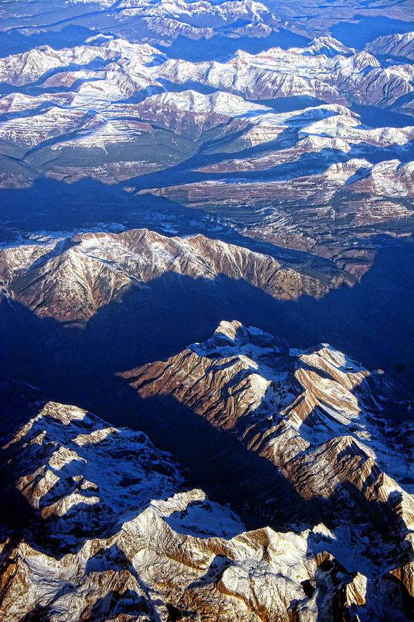 'aerial Photography' Photograph - Colorado Rocky Mountains Planet Earth by James BO  Insogna
