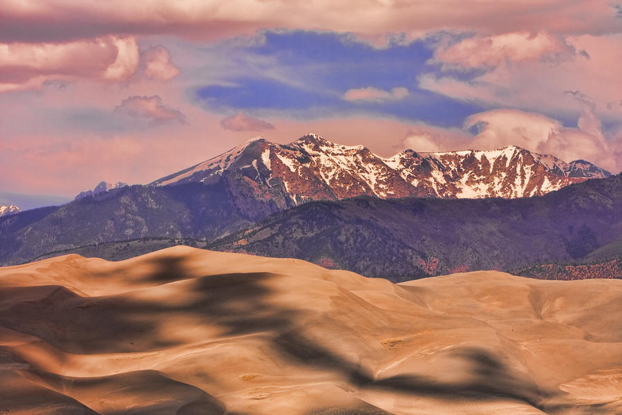 Colorados Great Sand Dunes Shadow Of The Clouds Photograph
