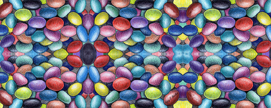 Colored Beans Design Digital Art  - Colored Beans Design Fine Art Print