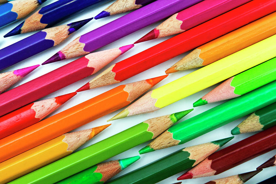 Colored Pencil Tips Photograph