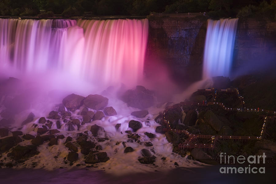 Colorful American Falls Photograph  - Colorful American Falls Fine Art Print