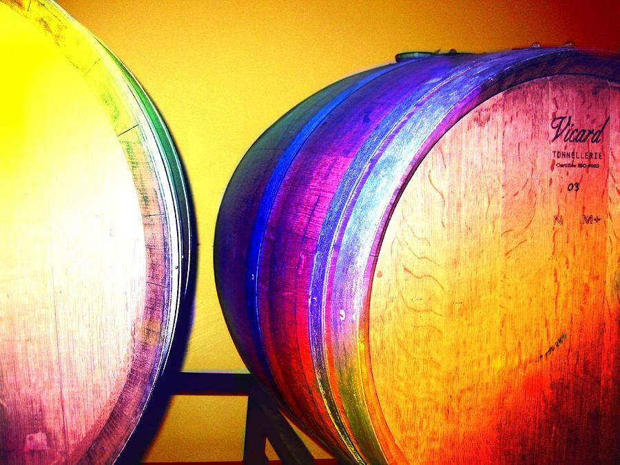 Colorful Barrels Digital Art  - Colorful Barrels Fine Art Print
