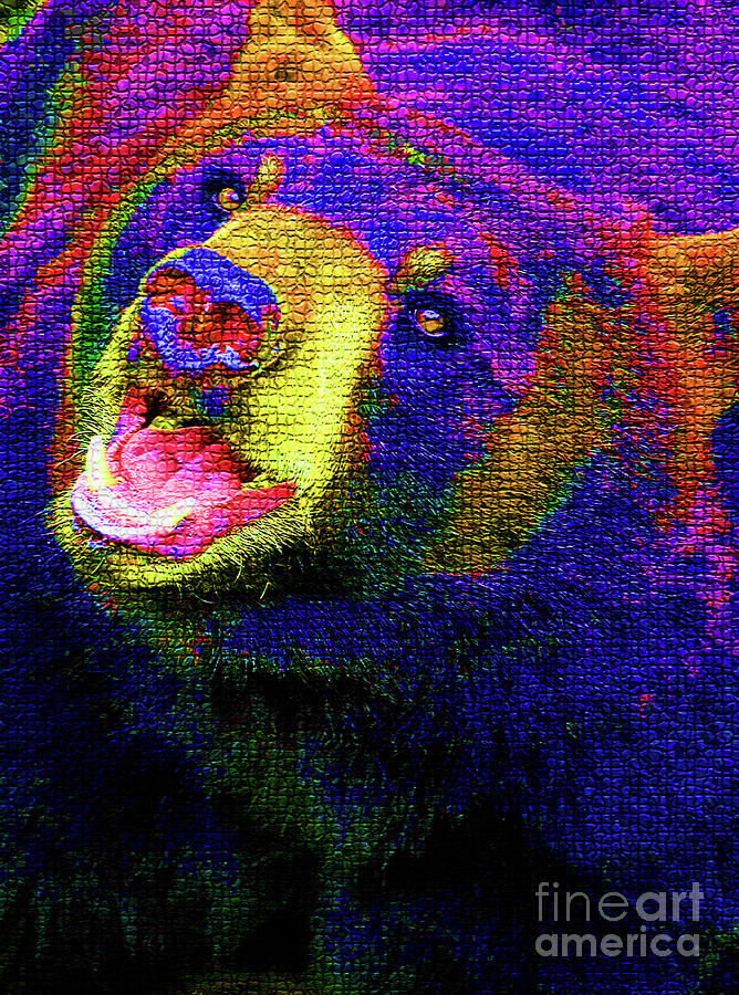 Colorful Bear Photograph  - Colorful Bear Fine Art Print