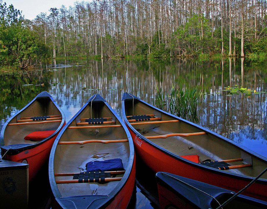 Colorful Canoes Photograph