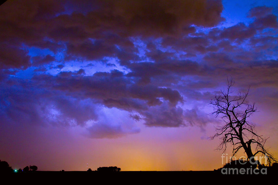 Colorful Cloud To Cloud Lightning Photograph  - Colorful Cloud To Cloud Lightning Fine Art Print