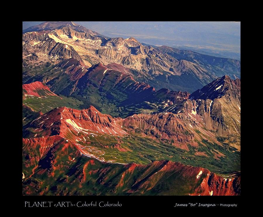 Colorful Colorado Rocky Mountains Planet Art Poster  Photograph