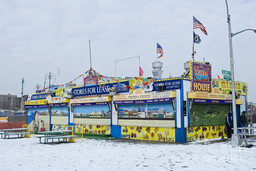 Colorful Coney Island Stand Photograph