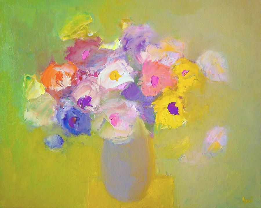 Colorful Flowers Painting Colorful Flower Paintings