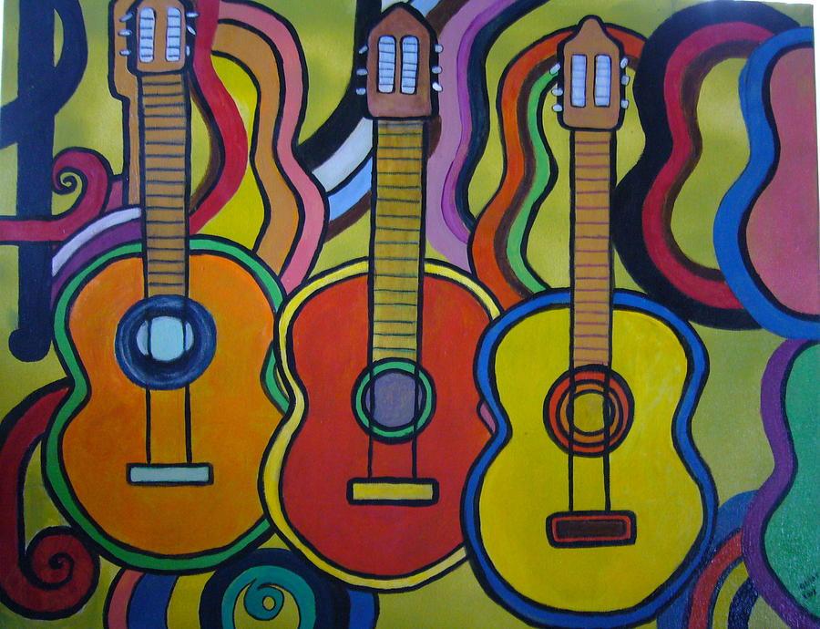 Colorful guitars