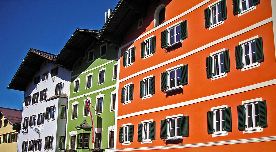 Colorful Kitzbuehel - Austria Photograph  - Colorful Kitzbuehel - Austria Fine Art Print