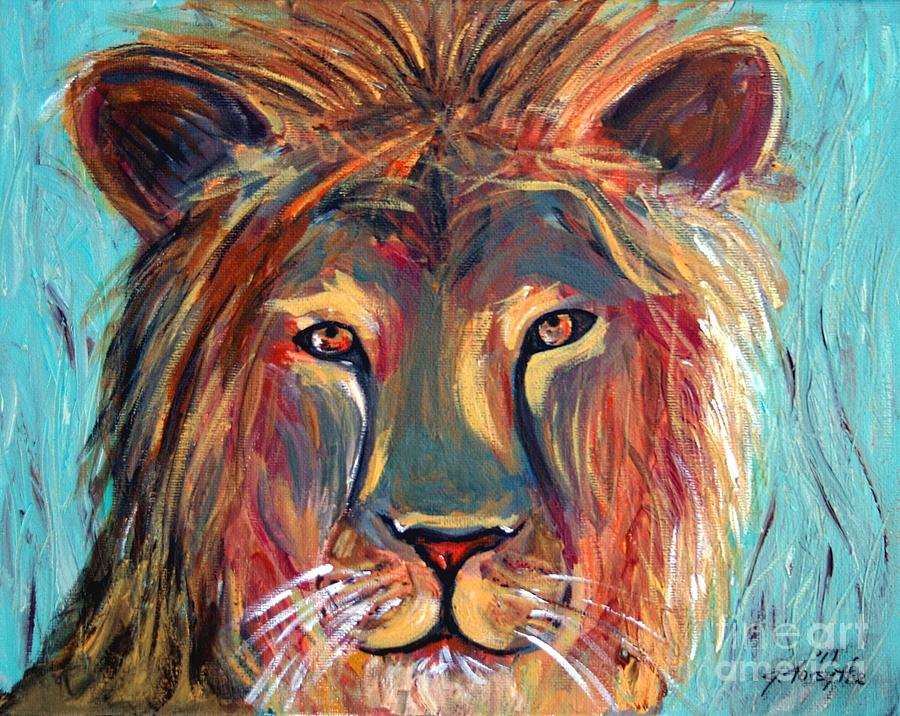 Colorful lion painting - photo#19