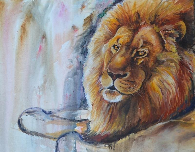 Colorful Lion Painting...